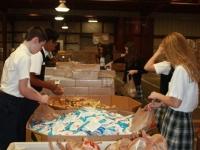 8th Graders helping at the Yuma Community Food Bank!
