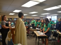 Fr. Emilio Blesses Our Students and Our School