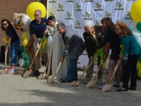 Groundbreaking for the Library expansion.